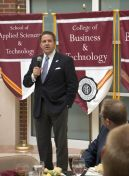 EKU President Benson brings remarks at the networking luncheon