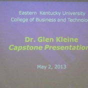 Welcome to Dr. Glen Kleine Capstone Presentations