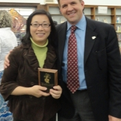Dr. Xiao with President Benson