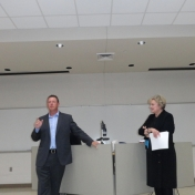 Mr. Chad Miles, MMIB Distinguished Alumnus, and Dr. Lana Carnes, MMIB Chair