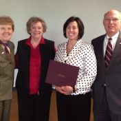 Provost Janna Vice, Dr. Lana Carnes, MMIB Chair, Ms. Laura Barthel, and Dean Robert B. Rogow