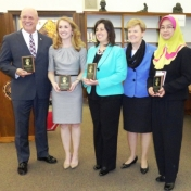 Award Winners with Provost Janna Vice