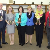 Award Winners with Provost Janna Vice and MMIB Chair, Dr. Lana Carnes