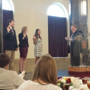 Collin Potter and Karlee Tanel are amon the new SGA officers sworn in