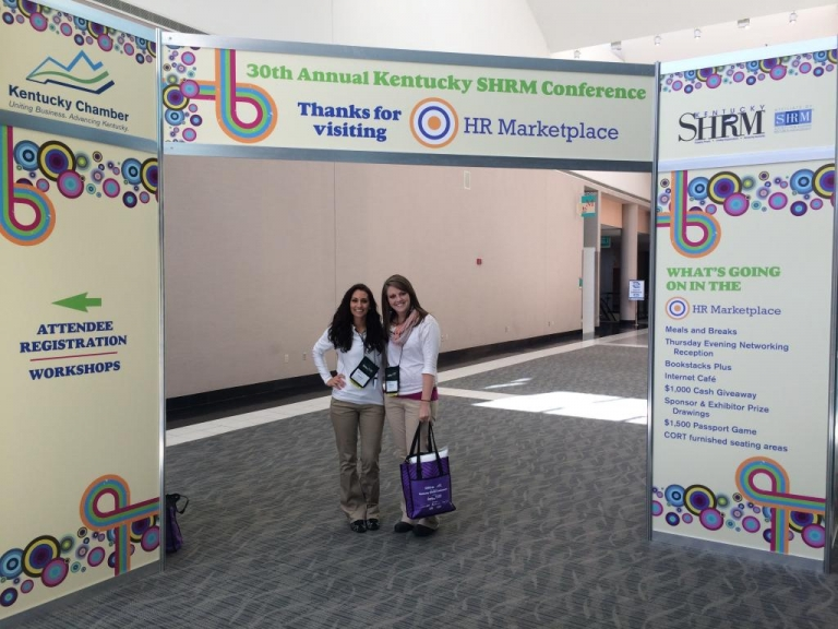 Johnson and Montgomery at the SHRM Conference