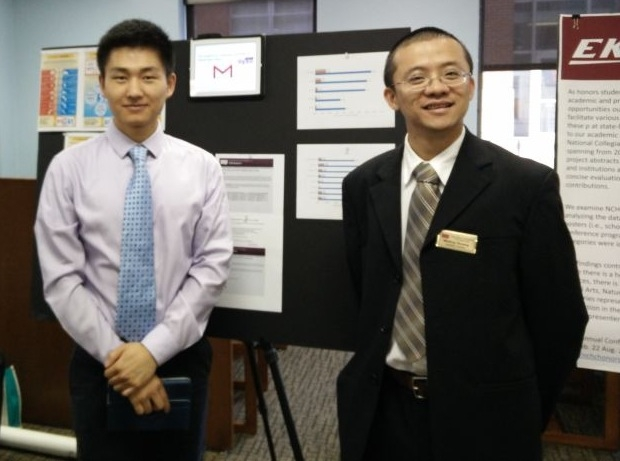 Lingjie Cai with Dr. Weiling Zhuang