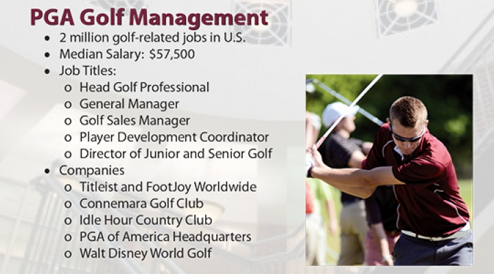 MMIB Best Business Jobs: PGA Golf Management