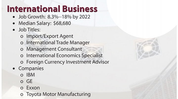 MMIB Best Business Jobs: International Business