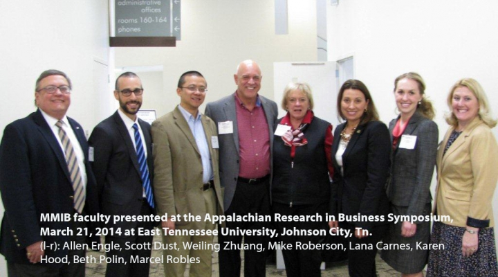 MMIB at ETSU Appalachian Research in Business Symposium, 3/21/14