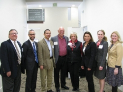 l-r: Drs. Engle, Dust, Zhuang, Roberson, Carnes, Hood, Polin, and Robles