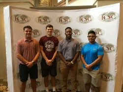 From left: Ben Durham, Elijah Vaughn, Quentin Carter, Jose Rebolledo