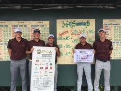 L-R: Erskine, Wolfers, Bratcher, Collet (Overall Medalist), and Webb