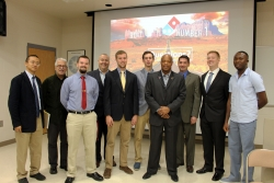 EKU MMIB's Global Supply Chain Management students and faculty with Troy Ellis