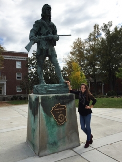 Karlee Tanel at the Daniel Boone statue