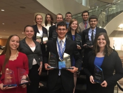 Group photo of PBL students with their awards