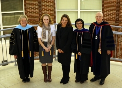 l-r: Drs. Carnes, Polin, Hood, Xiao, and Rogow