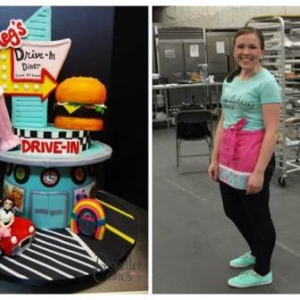Meghan Smith and her award-winning cake creation