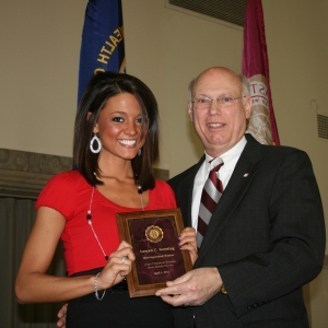 Lauren Crystal Kersting with CBT Dean Bob Rogow