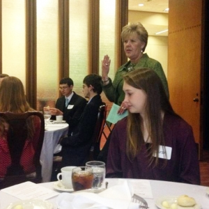 Rep. Rita Smart with MMIB students and faculty