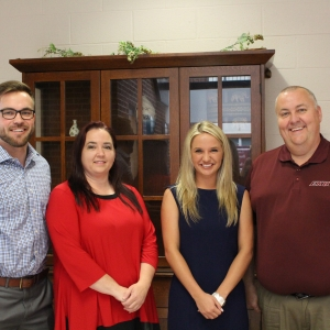 (l-r) Connor Hill, Teresa Smith, Sarah Beard, James Kirby Easterling