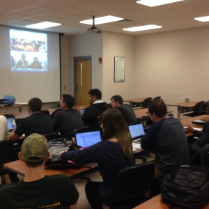EKU students interacting with DHBW from the perspective of the BTC classroom