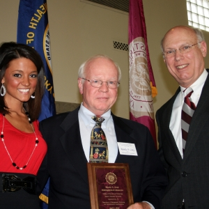 l-r: Lauren Kersting, Randy Gray, Dean Bob Rogow