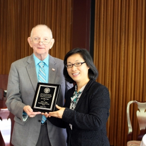 Dr. Jack Dyer with recipient Dr. Qian Xiao