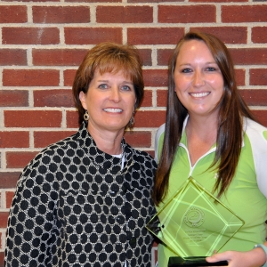 Kelcy Diseroad (right) with program director Kim Kincer